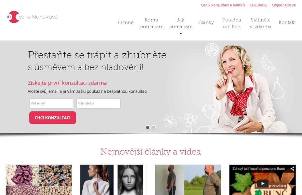 Hlavička webu s měnícím se bannerem